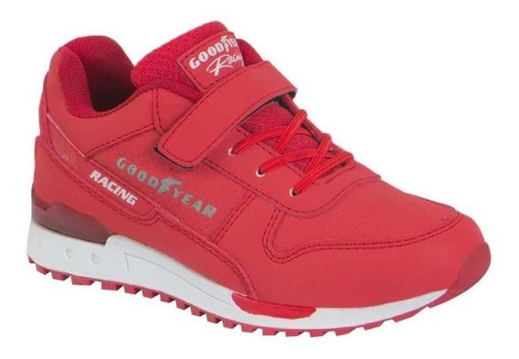 Tenis Casual Goodyear Racing 3794 Niño Rojo 821746