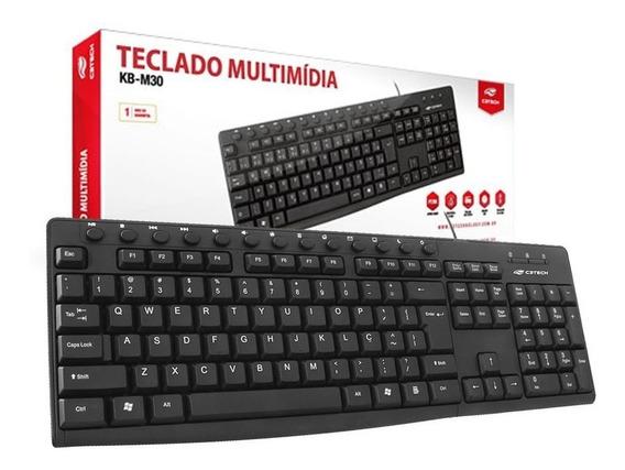 Teclado Usb Multimidia Portugues C3tech Preto Kb-m30bk