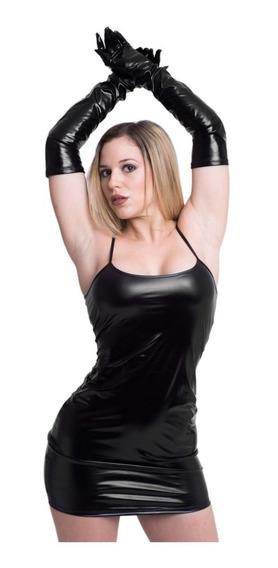 Vestido Clásico Ajustado Vinilo Lencería Sensual Mujer