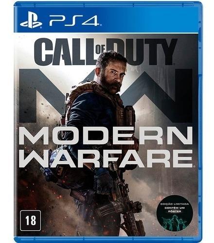 Jogo Call Of Duty : Modern Warfare Ps4 Midia Física Lacrado