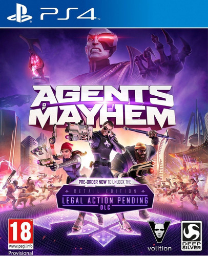 Agents Of Mayhem - Ps4 Fisico Nuevo & Sellado
