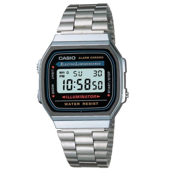 Relógio Casio Vintage Digital A168wa-1wdf Prata