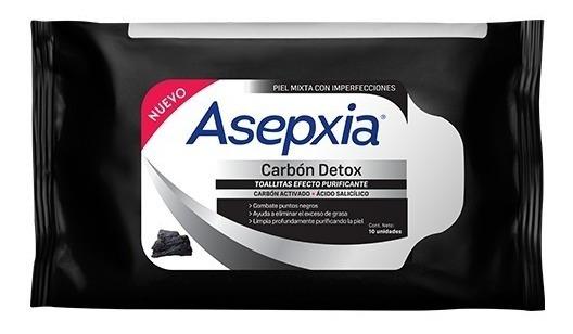 Asepxia Toallitas Purificantes Carbón Detox X 25