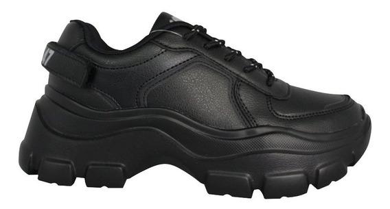 Zapatillas Mujer 47 Street Spoil Blancas Negras Cordones