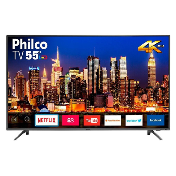 Smart Tv Led 55 Philco Ptv55f61snt 4k Ultra Hd Com Wi-fi