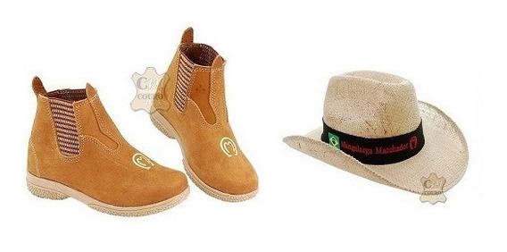 Botina Country Infantil + Chapéu Mangalarga Marchador
