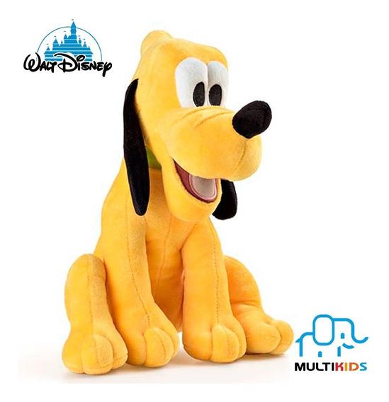 Boneco De Pelúcia Disney Pluto Grande Com Som 33cm Multikids