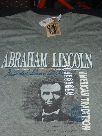 Espectacular!! Remera M/c Orig. Lincoln Museum Usa Green Xl