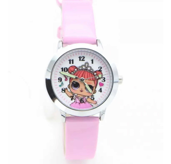 Relógio Infantil Rosa Boneca Lol