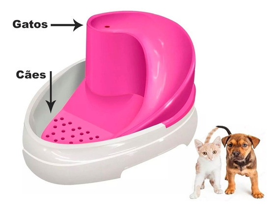 Bebedouro Felino Canino Caes Gatos Fonte Tobo Automático