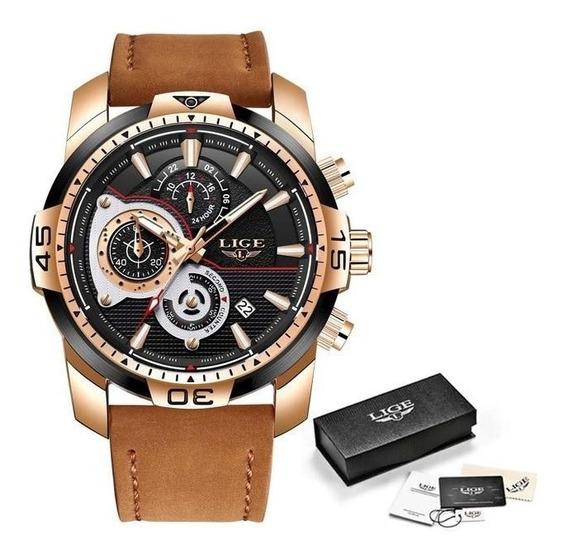 Relógio Lige Top Brand Luxury Quartz