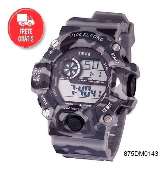 2 Relógio Masculino Original Prova Dágua Camuflado E Preto Data Anti-shock
