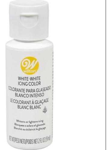 Imagen 1 de 8 de Colorante Blanco En Gel Comestible Wilton Titanweb