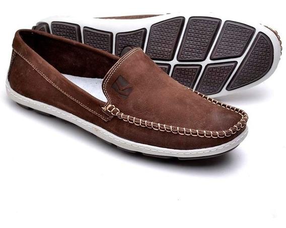 Sapato Mocassim Em Couro Solado Ant-derrapante Diferenciado
