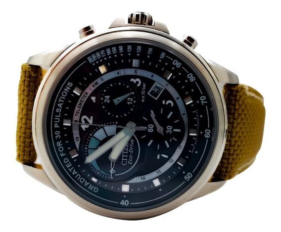 Reloj Caballero Acero Eco-drive Correa Nylon