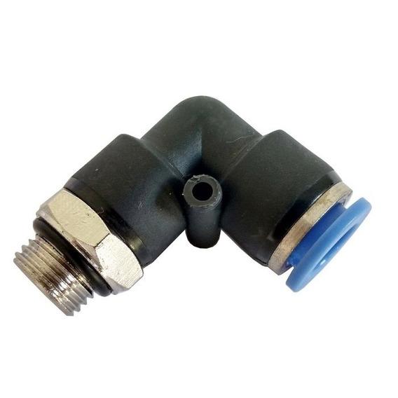 Conector Cotovelo Rosca Macho Bsp 1/4 P/ Tubo 8mm Conexão