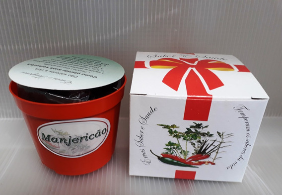 Mini Kit Presente Eco Sabor E Saúde Manjericão- Combo 20 Und