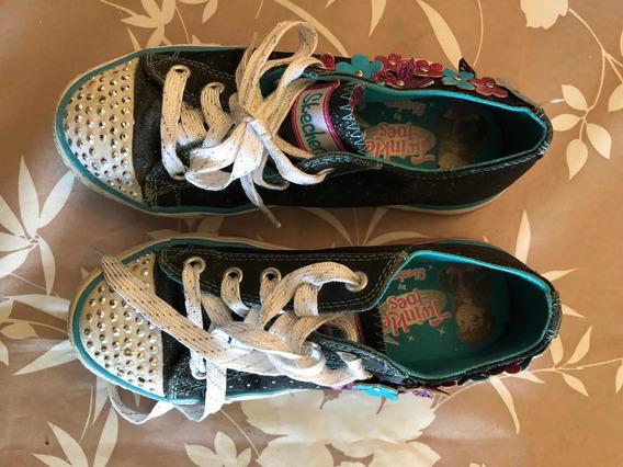 Zapatilla Skechers Con Luces Para Niña
