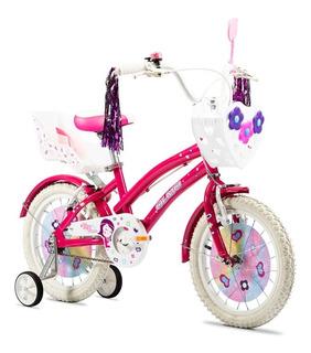Bicicleta Nena Olmo Rodado 16 Tiny Canasto