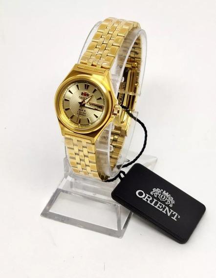 Relógio Orient Feminino Automático Dourado Tamanho 28mm