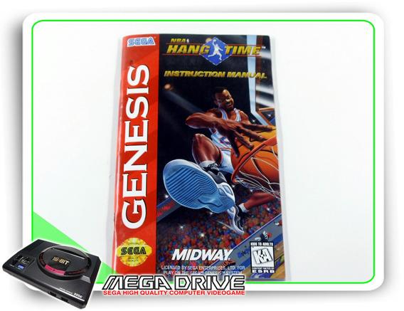 Manual Nba Hang Time Original Sega Mega Drive / Genesis