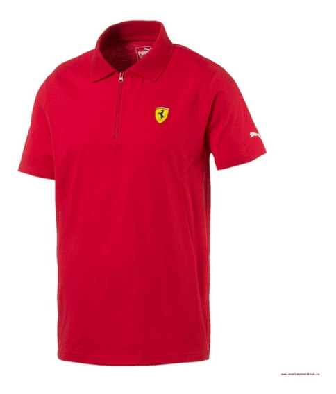 Playera Polo Ferrari Sf Polo 2 Rosso Corsa