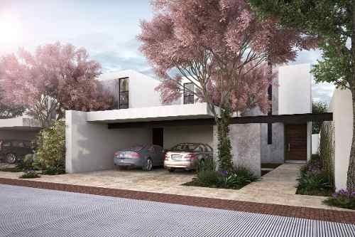 Casa Súper Equipada En Venta En Mérida, Privada Arborea Conkal Lote 134 Mod B