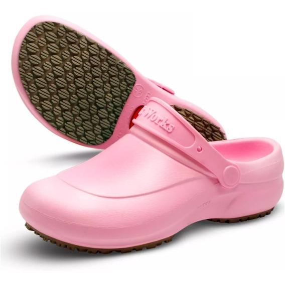 Sapato Clog Bb60 Antiderrapante Médicos Enfermeiros Branco