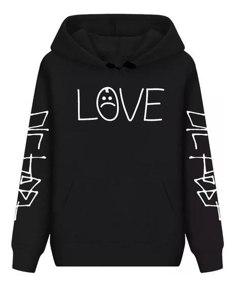 Blusa De Frio Casaco Agasalho Moletom Lil Peep Love+chaveiro