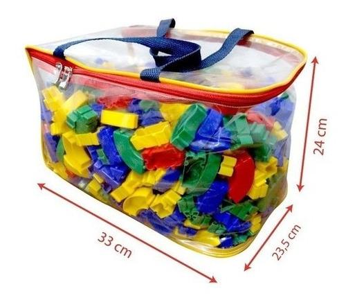 Imagem 1 de 9 de Brinquedo Bolsa Plástica Monta Peça Encaixar Fácil C/1000pcs