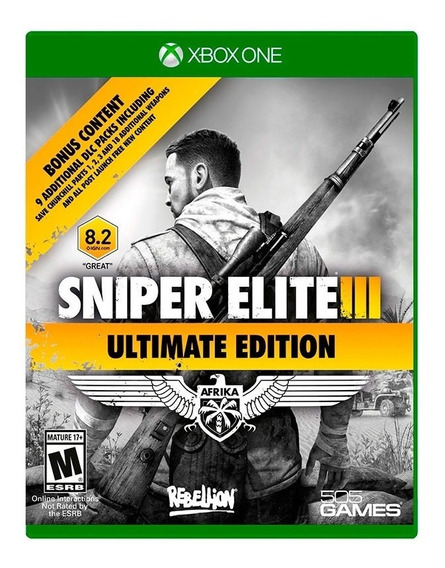 Sniper Elite Iii Ultimate Edition Xbox One Mídia Física Novo