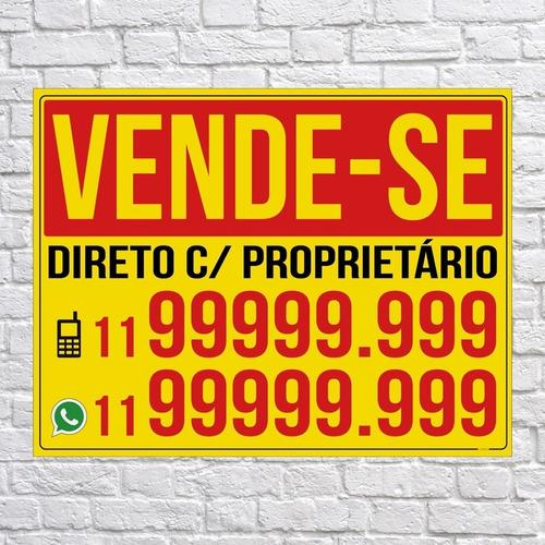Placa Vende-se Personalizada 50x40cm