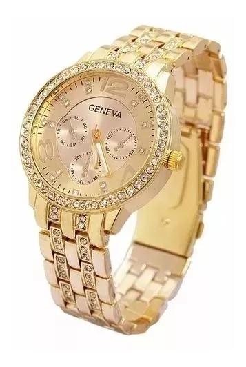 Relógio Geneva Original Importado Pronta Entrega