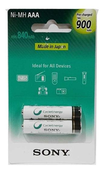Pilha Palito Rec. Sony Aaa Recarregável Cycle Energy 900 Mah