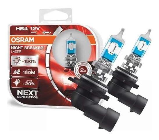 Lampada Night Breaker Laser Hb4 Osram Tipo Xenon 150% + Luz