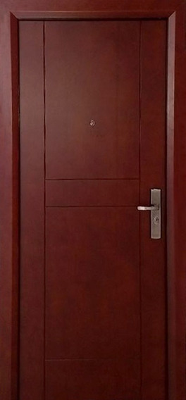 Puerta De Seguridad Maple Aper Izq Acero + Madera Cherry