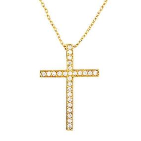 Colar Crucifixo Cravejado De Zirconia