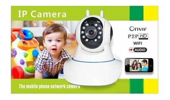 Câmera Ip Ir Wireless Visão Noturna Controle Internet Barato