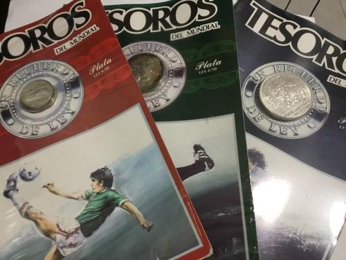 Imagen 1 de 4 de Monedas 100 50 25 Pesos Mundial Fútbol Méx 1986 En Blister