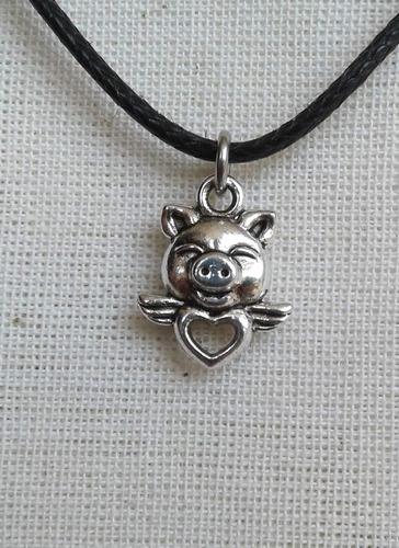 Collar/pulsera/llavero De Chanchito, Cerdito Alado, Pig