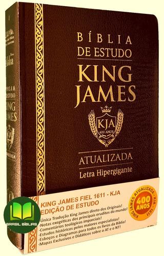 Imagem 1 de 4 de Bíblia King James Atualizada De Estudo Masculina / Feminina