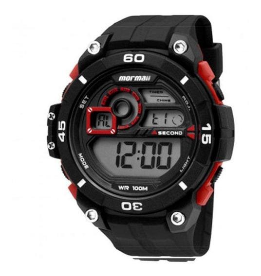 Relógio Masculino Digital Wave Vermelho - Mormaii Mo2019/8r