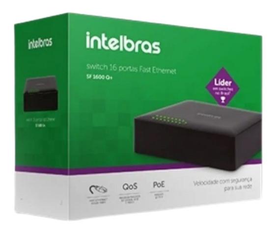Switch 16 Portas Fast Ethernet Sf 1600 Q+ Loja Extarte