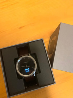 Smartwatch Garmin Vivomove Hr Premium Relógio Fitness Couro
