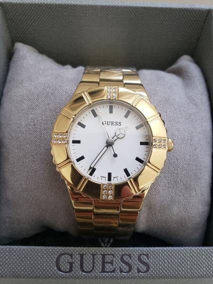 Relógio Guess Dourado Com Detalhes Em Strass