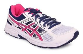 Tênis Asics Gel-contend 4a Branco/rosa/azul
