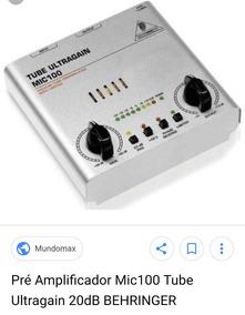 Pré Amplificador Behringer Tube Ultragain Mic 100