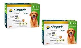 Combo 2 Cx Simparic 80 Mg 20 A 40 Kg - 6 Comprimidos