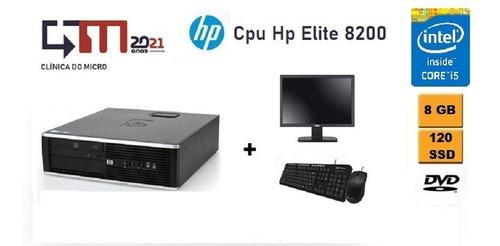 Hp 8200 Elite I5 8gb Ram 240gb Sdd Monitor 18 Teclado  Mouse