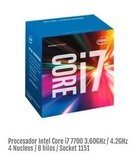 Procesador Intel Core I7 7700